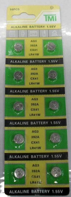 Батарейка AG3. CX41,LR 41W