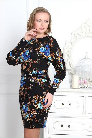 Платье Гербера 9 (синие цветы)