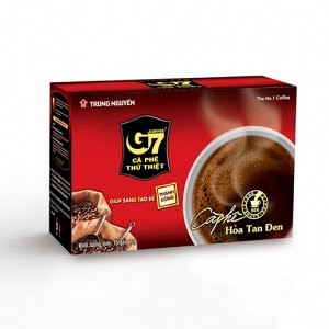 Чистый чёрный растворимый кофе G7TrungNguyen 1 шт