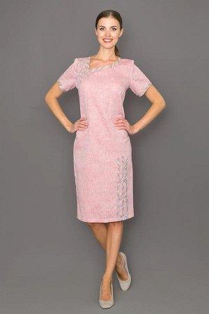Красивое платье из льна