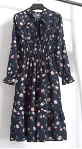 Платье с длинными рукавами и воротником-бантом Цвет: 8