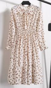 Платье с длинными рукавами и воротником-бантом Цвет: 12