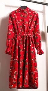 Платье с длинными рукавами и воротником стойкой Цвет: 5