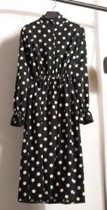 Платье с длинными рукавами и воротником стойкой Цвет: 7