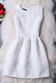 Жаккардовое платье без рукавов Цвет: БЕЛЫЙ