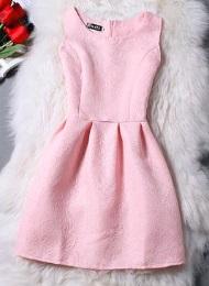Жаккардовое платье без рукавов Цвет: РОЗОВЫЙ