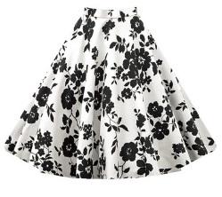 Винтажная юбка Цвет: БЕЛЫЙ (ЧЕРНЫЕ ЦВЕТЫ)