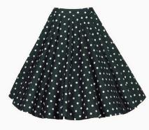 Винтажная юбка Цвет: ЧЕРНЫЙ (БЕЛЫЙ ГОРОХ)