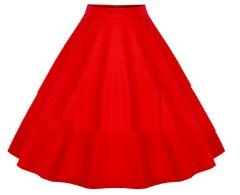 Винтажная юбка Цвет: КРАСНЫЙ