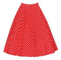 Винтажная юбка Цвет: КРАСНЫЙ (БЕЛЫЙ ГОРОХ)
