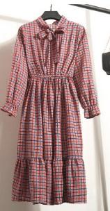 Платье с длинными рукавами и воротником-бантом Цвет: 3