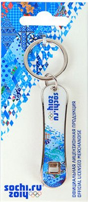 "Сноуборд Сувенир ""Сочи 2014"": Открывалка-брелок для бутылок ""Сноуборд"
