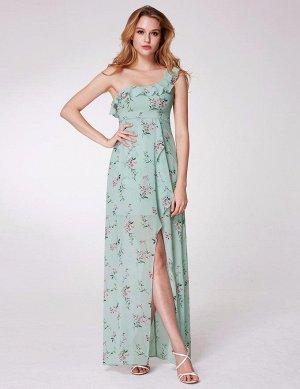 Нежное платье в пол мятного цвета, р. 42