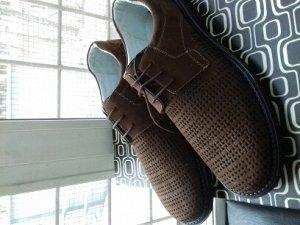 Туфли **Материал: натуральная кожа (нубук)