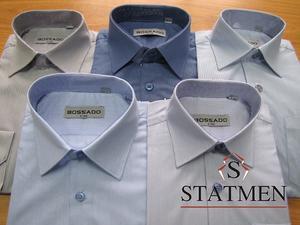 Рубашка BOSSADO в светло сиреневую мелкую полоску