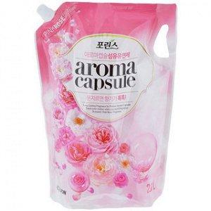"""CJ LION Кондиционер для белья 2100мл """"Pink rose"""" (мягкая упак.) Корея"""
