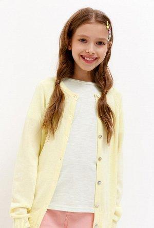Кардиган детский для девочек Marzipan желтый