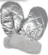 Варежки серебряный