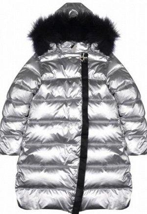 Пальто пуховое серебряный NP