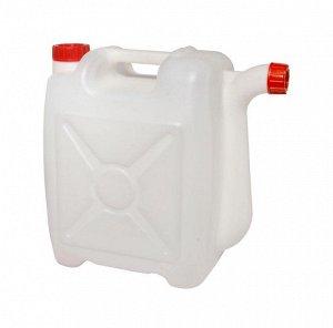 Канистра Канистра 10,0 л со сливом. Размеры изделия: Д / Ш / В  330 / 160 / 350 мм.  Канистра изготовлена из прочного пищевого пластика и предназначена для транспортировки и хранения пищевых жидкостей