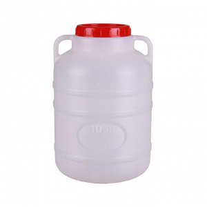 Канистра Канистра 10л. [БОЧКА]. Размеры изделия: Д / Ш / В  230 / 230 / 360 мм.  Канистра изготовлена из прочного пищевого пластика и предназначена для транспортировки и хранения пищевых жидкостей. Из