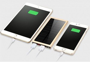 Noname Power Bank 10000 mAh Slim digital с солнечной зарядкой