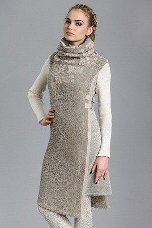 Платье-туника (с воротом)