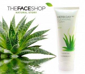 The Face Shop Пенка для умывания с экстрактом алоэ HERB DAY 365 CLEANSING FOAM ALOE