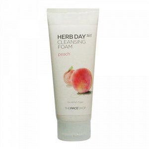 The Face Shop Пенка для умывания с экстрактом персика HERB DAY 365 CLEANSING FOAM PEACH