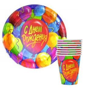 ♦ Праздник каждый день🎉🎈🎁 - 17 — Стаканы, тарелки — Аксессуары для детских праздников