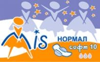 Классические гигиенические прокладки с крылышками,  Нормал софт (3 капли), 10 шт