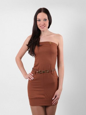 6170-1 платье женское коричневое