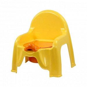 Стул дет. Стул дет. ТУАЛЕТНЫЙ ЖЕЛТЫЙ.Размеры изделия: Д / Ш / В  455 / 110 / 220 мм. Стульчик детский туалетный  предназначен для постепенного обучения малыша навыкам самостоятельной гигиены. Горшок л
