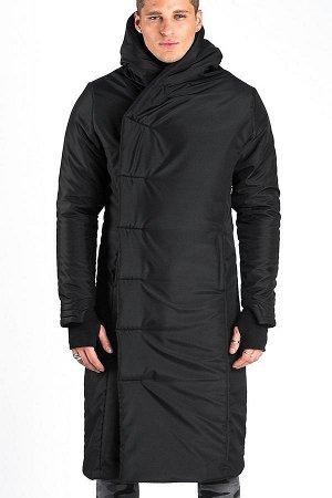 ПАЛЬТО Дизайнерское стильное зимнее пальто с капюшоном. Универсальный силуэт ниже колена. Два боковых и два внутренних кармана, застежка-кнопки, уникальный дизайн рукавов с манжетами и отверстием для
