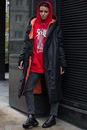ПАЛЬТО Внешняя плащево-курточная ткань с ветро-влагоотталкивающей пропиткой,55% хлопка,45% нейлона.Внутренняя гипоалергенная подкладка оранжевого цвета из хлопка. Дизайнерское стильное зимнее пальто с