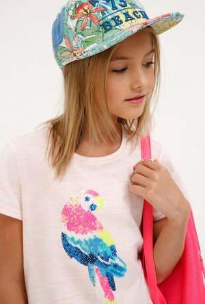 Футболка(Фуфайка) детская для девочек Fraser светло-розовый