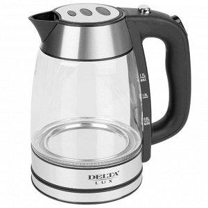 Чайник DELTA LUX DL-1325 корпус из жаропроч. стекла  (6) 2200 Вт, 1,7 л