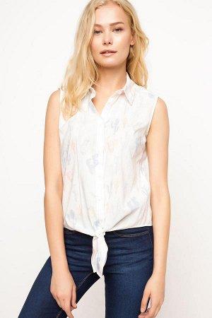 Рубашка c кактусами без рукава