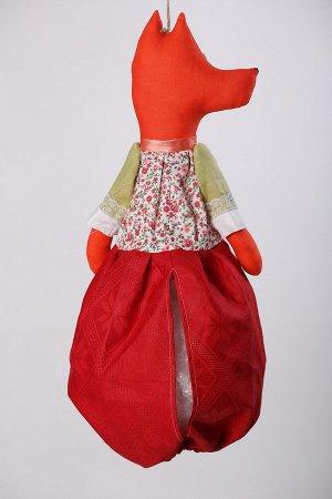 Лиса Высота изделия60-62 см. Состав: Лен 100% Вашему вниманию предлагается добрая и милая кукла, несущая тепло и уют в каждый дом! Это удобный и функциональный контейнер для хранения полиэтиленовых п