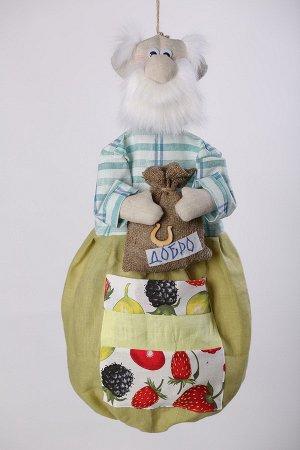 Дедушка Высота изделия60-62 см. Состав: Лен 100% Вашему вниманию предлагается добрая и милая кукла, несущая тепло и уют в каждый дом! Это удобный и функциональный контейнер для хранения полиэтиленовы