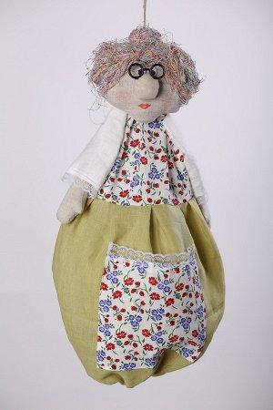 Бабушка Высота изделия60-62 см. Состав: Лен 100% Вашему вниманию предлагается добрая и милая кукла, несущая тепло и уют в каждый дом! Это удобный и функциональный контейнер для хранения полиэтиленовы