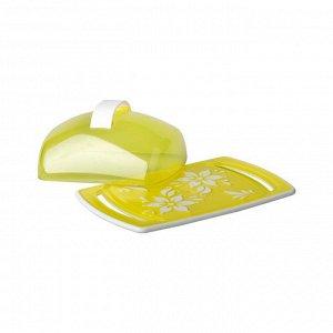 Маслёнка Масленка ЖЕЛТЫЙ [ПРЕМЬЕРА]. Размеры изделия: Д /Ш /В 185 /118 /67 мм. Масленка «Премьера» прекрасно подходит для хранения масла и сервировки стола. Масленка состоит из прямоугольного пластико