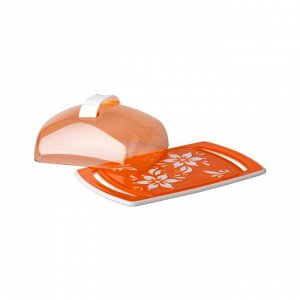 Масленка Масленка ОРАНЖЕВАЯ [ПРЕМЬЕРА]. Размеры изделия: Д /Ш /В 185 /118 /67 мм. Масленка «Премьера» прекрасно подходит для хранения масла и сервировки стола. Масленка состоит из прямоугольного пласт