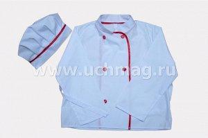 Костюм повара (куртка, колпак).  ,Рост 134-140 см