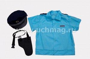 Костюм полицейского (рубашка, головной убор, кобура). Размер 134-140 см.