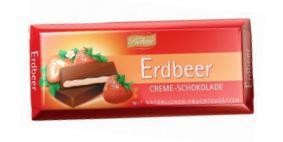 """Темный шоколад с клубничной начинкой (62%), производитель """"BOHME"""", Германия"""