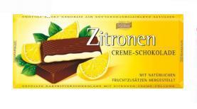 """Темный шоколад с лимонной начинкой (62%), производитель """"BOHME"""", Германия"""