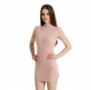 Платье короткое с короткими рукавами цвет: КРЕМОВЫЙ