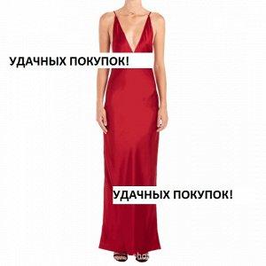 Платье длинное без рукавов цвет: КРАСНЫЙ