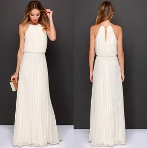 Платье длинное без рукавов цвет: БЕЛЫЙ
